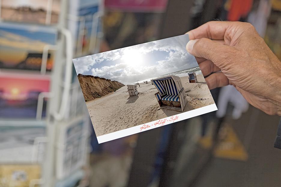 Argos postcard coating application